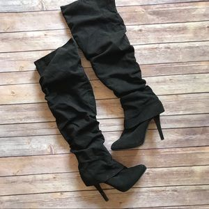 Knee high stiletto boots 8.5